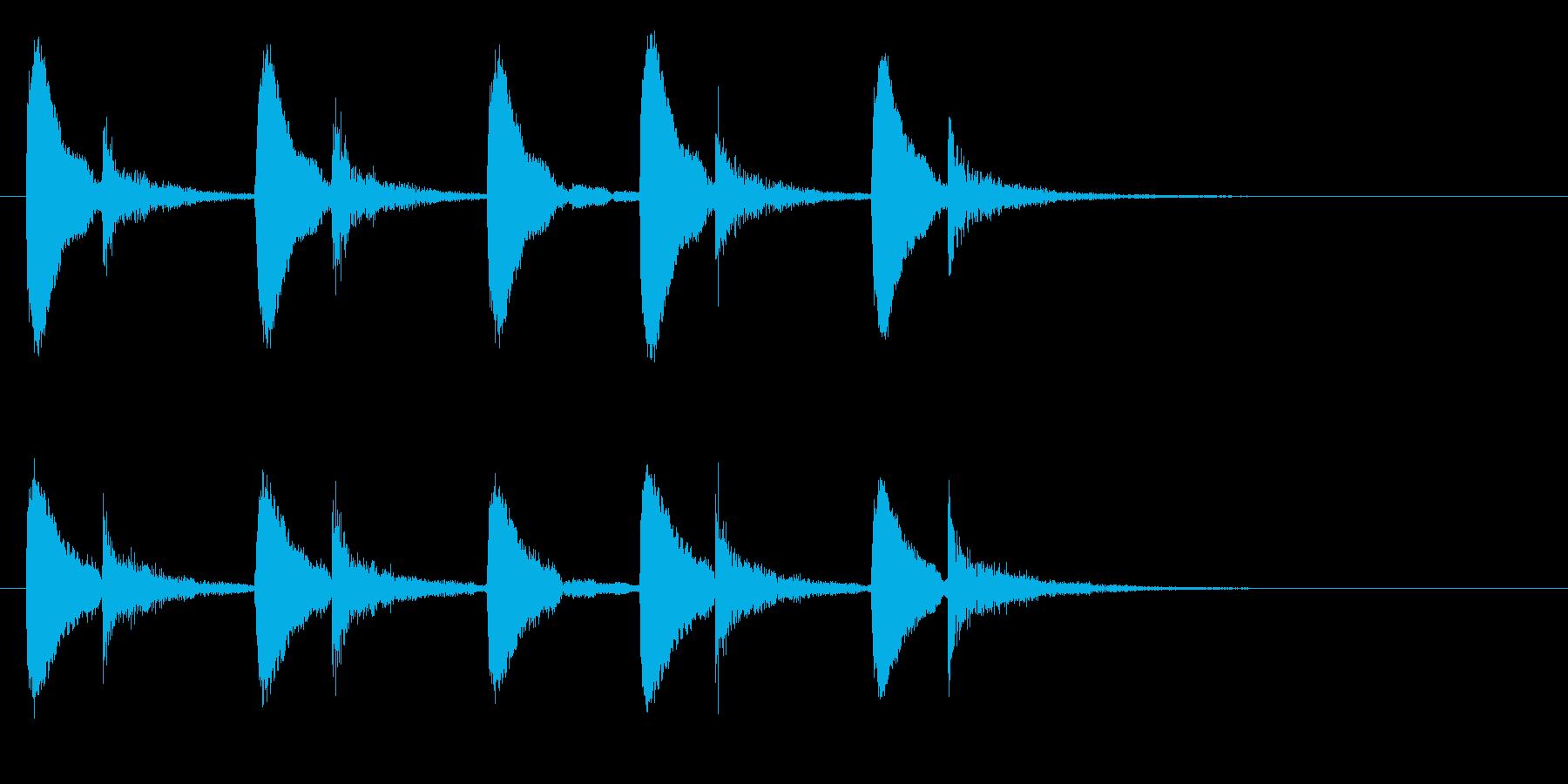 インドの桶太鼓ドールのフレーズ音+FXの再生済みの波形
