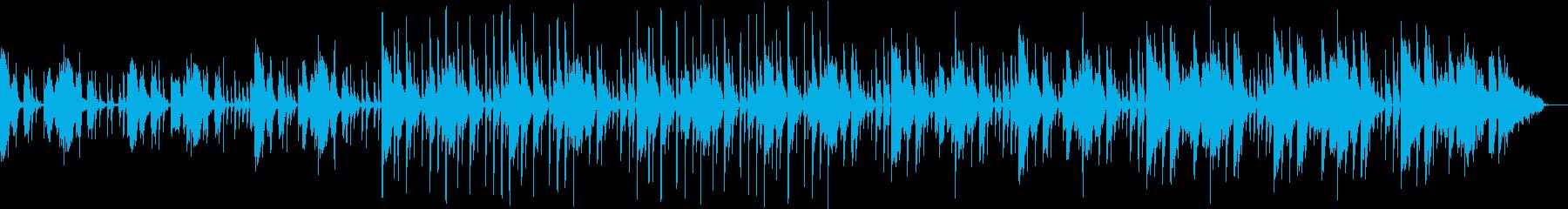 クイズ番組の考え中・・・のような音の再生済みの波形