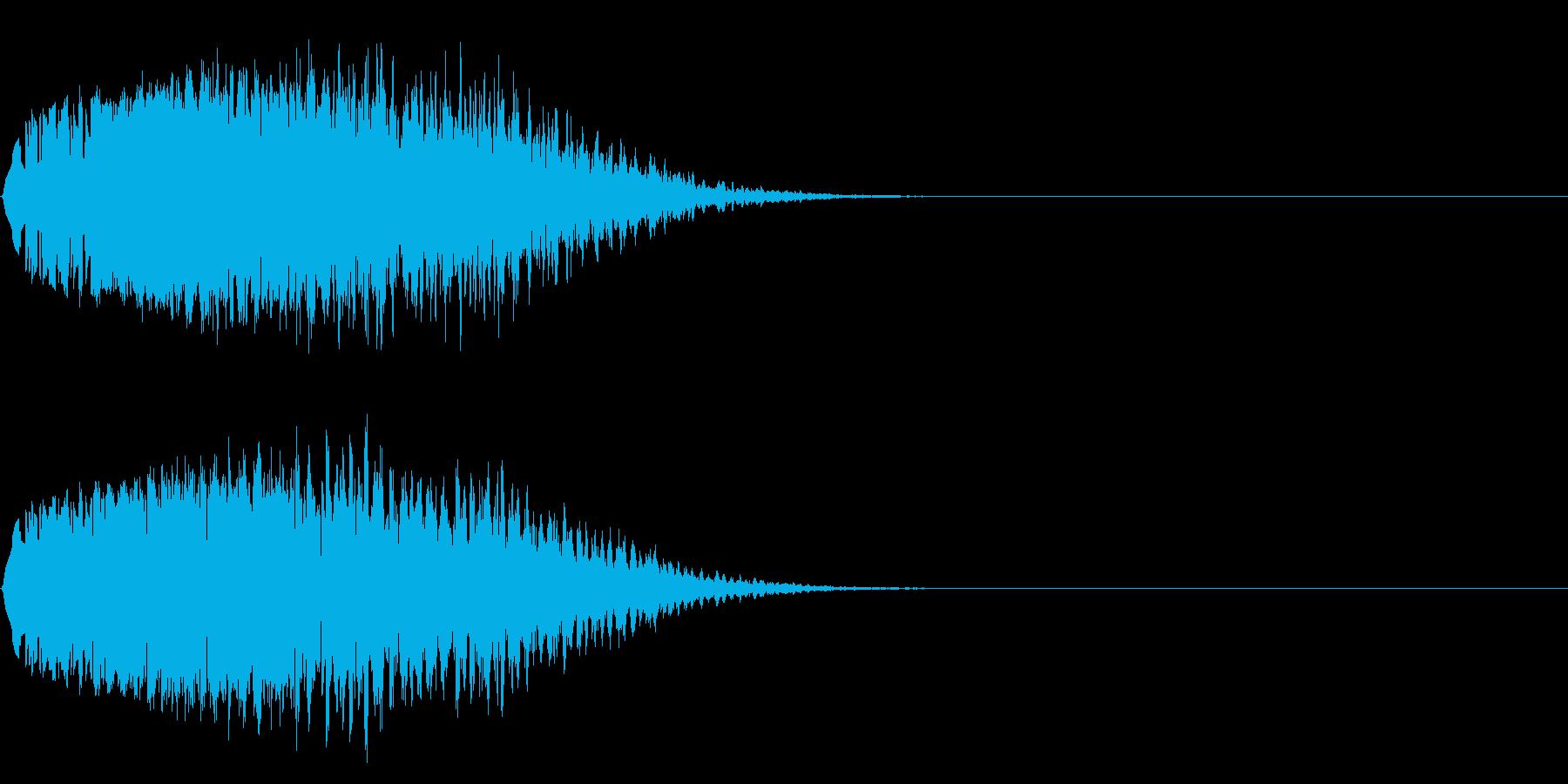 昔SFでモニターに映像がうつる時、鳴る音の再生済みの波形