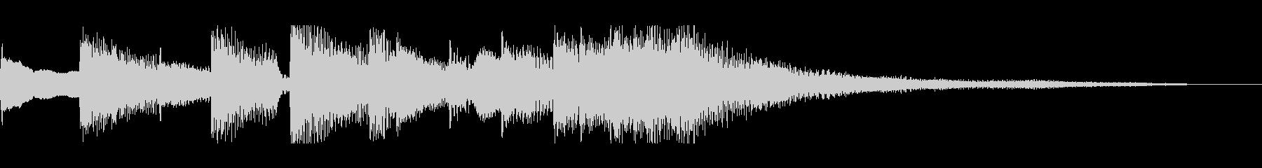軽快なリズムのピアノジングルの未再生の波形