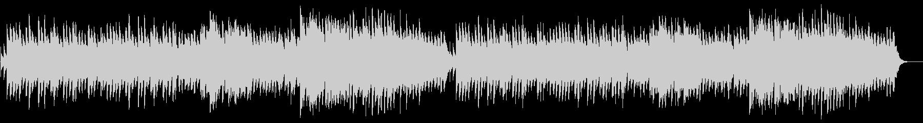 ピアノとフルートののどかなBGMの未再生の波形