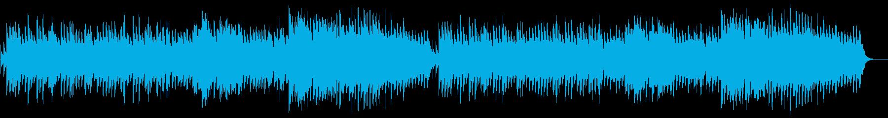 ピアノとフルートののどかなBGMの再生済みの波形