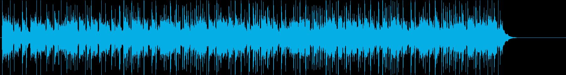 爽やかでキラキラしたテンポの良いBGMの再生済みの波形
