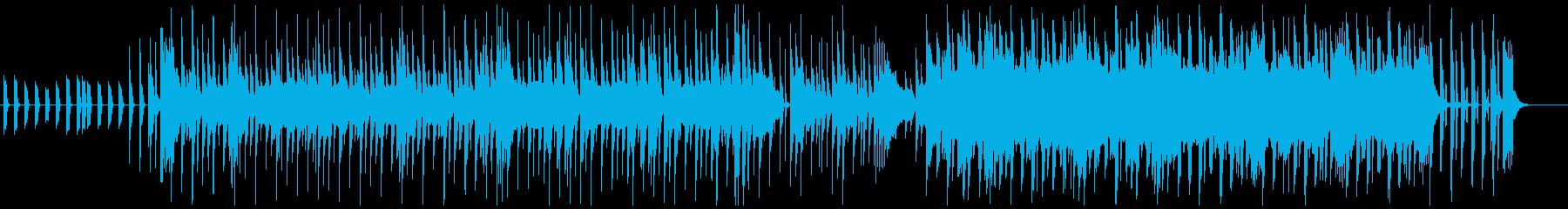 ゆったりした安眠向きのエレピ曲の再生済みの波形