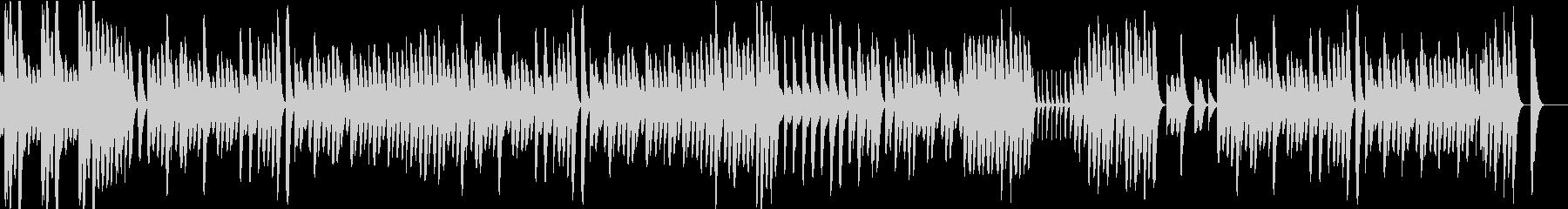 可愛らしくほのぼのとした木琴のBGMの未再生の波形