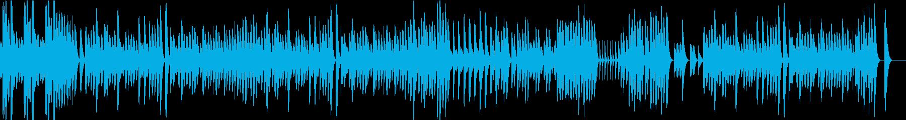 可愛らしくほのぼのとした木琴のBGMの再生済みの波形