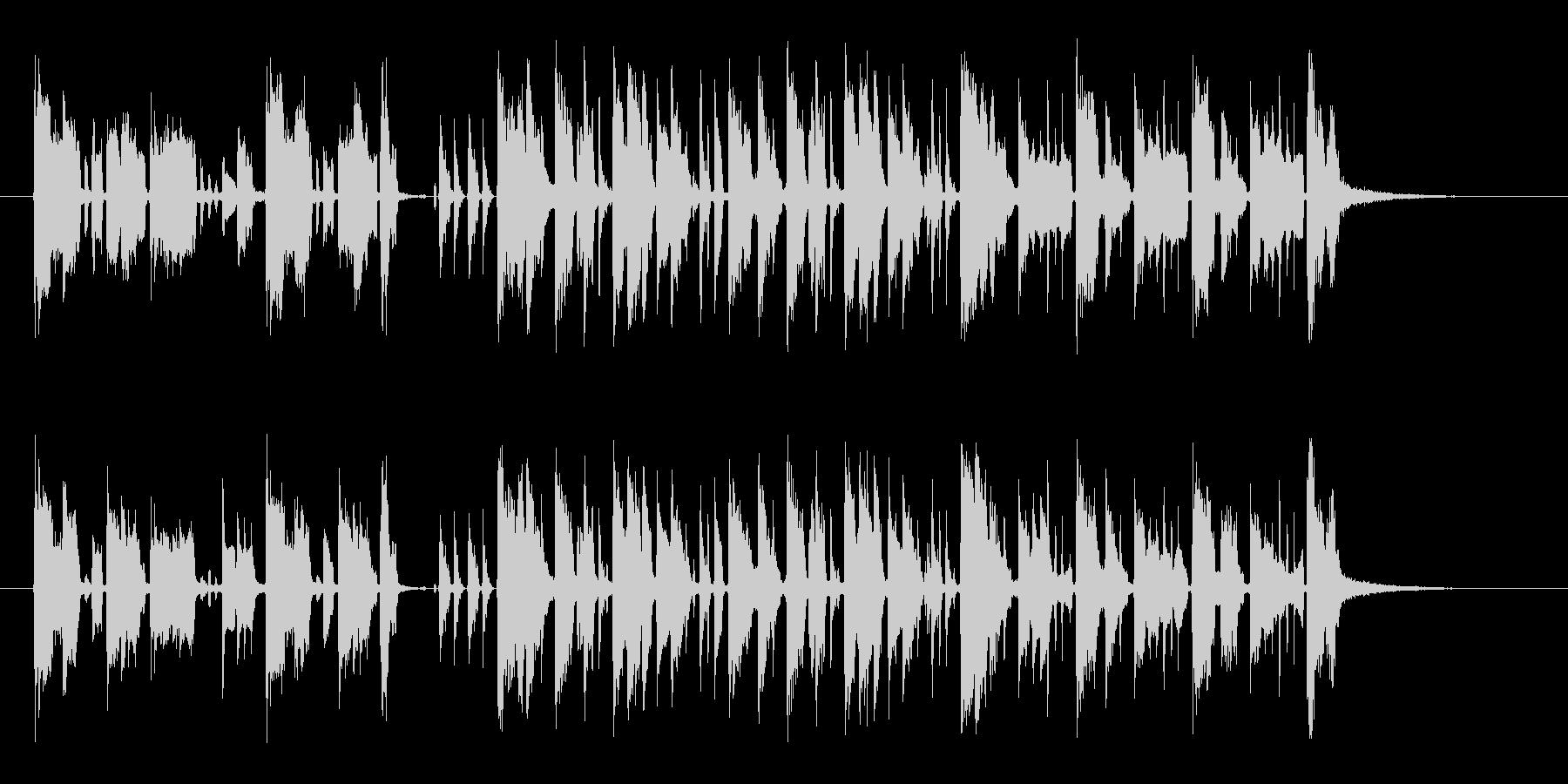 軽快で現代的なギターサウンドの未再生の波形