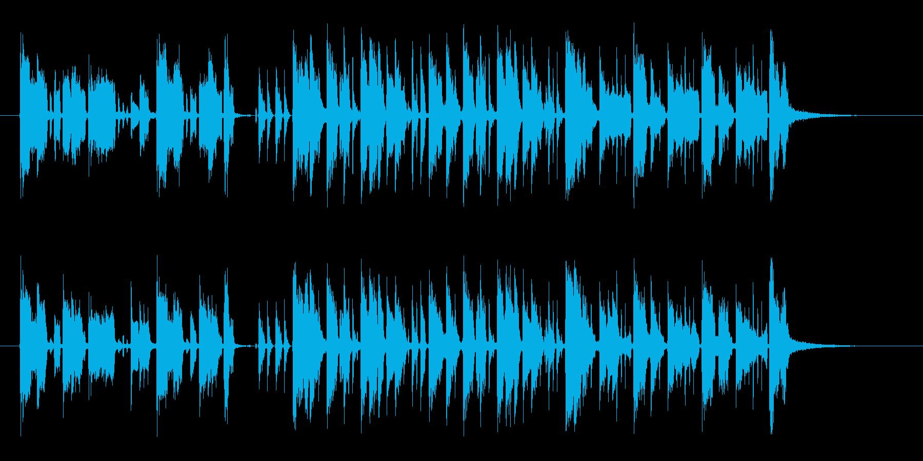 軽快で現代的なギターサウンドの再生済みの波形