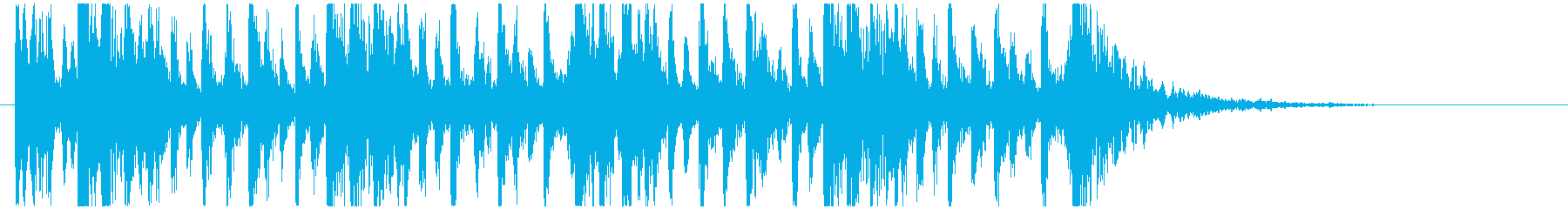 和太鼓のフレーズ1。残響なしBPM120の再生済みの波形