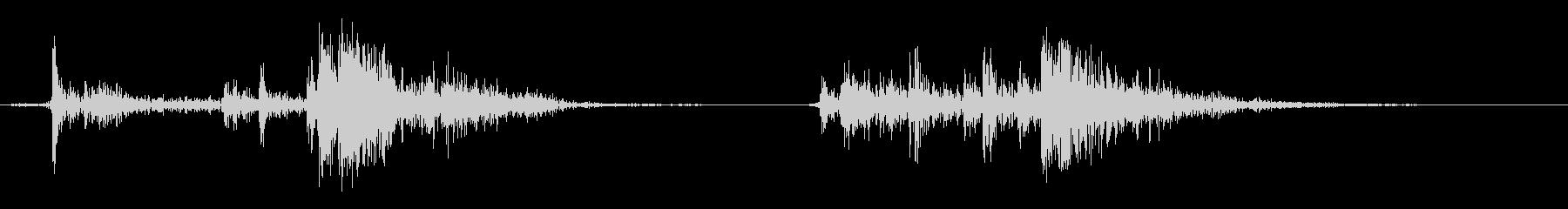 ショットガンのコッキングの未再生の波形