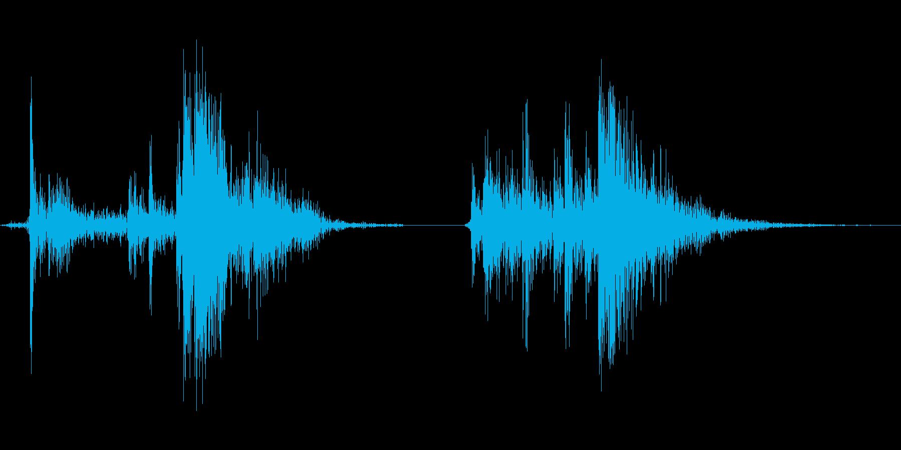 ショットガンのコッキングの再生済みの波形