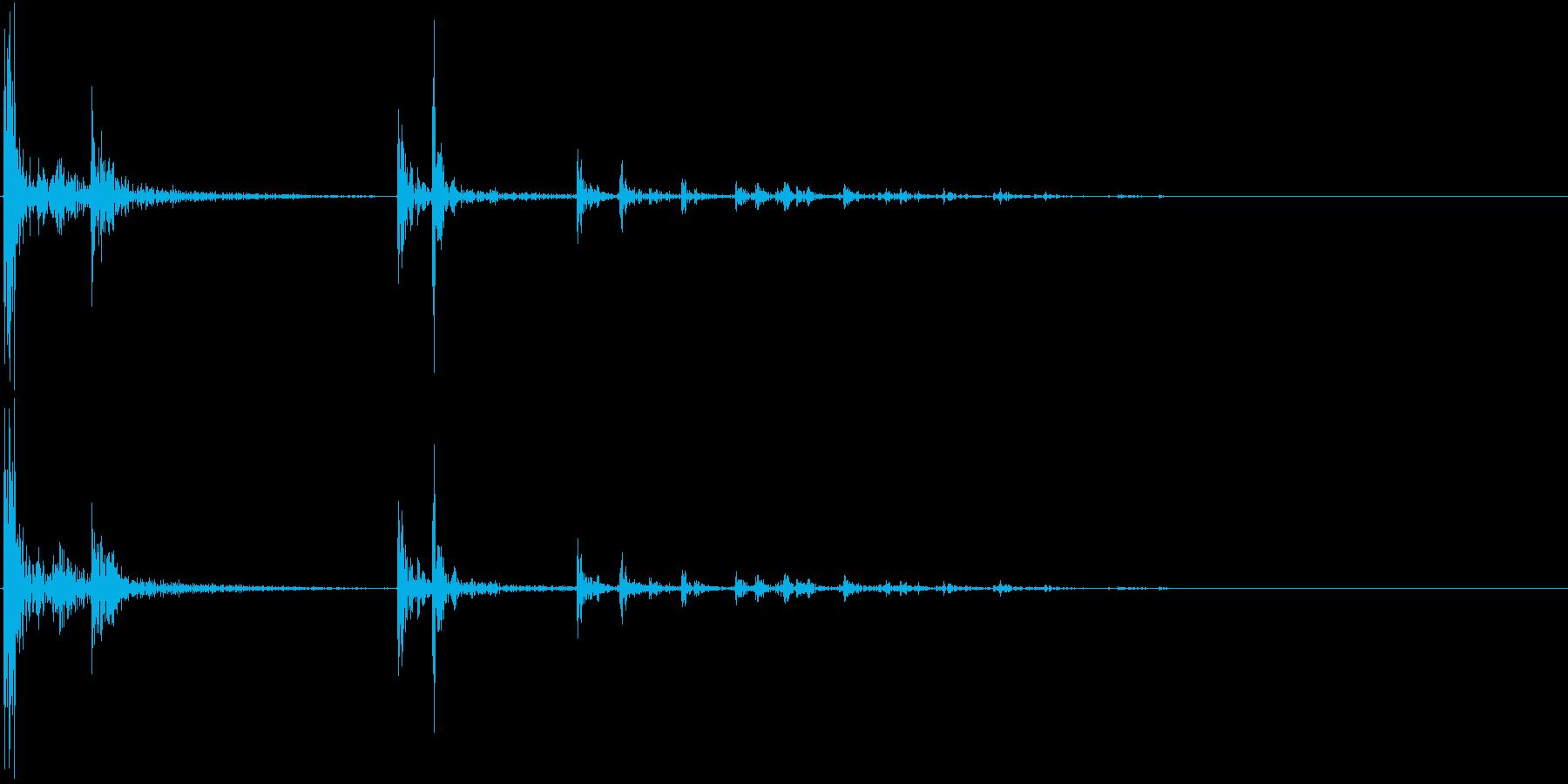 【生録音】プラスチックの容器が転がる 1の再生済みの波形