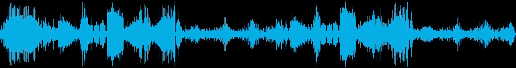 レーザースキャン、レーザー、スイー...の再生済みの波形