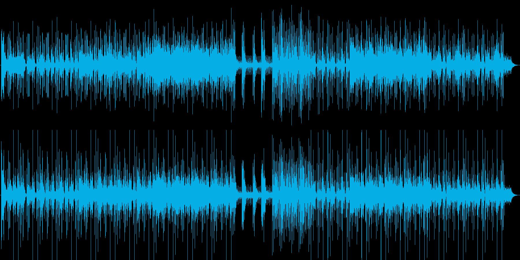 違和感を感じたときのエスニック系BGMの再生済みの波形