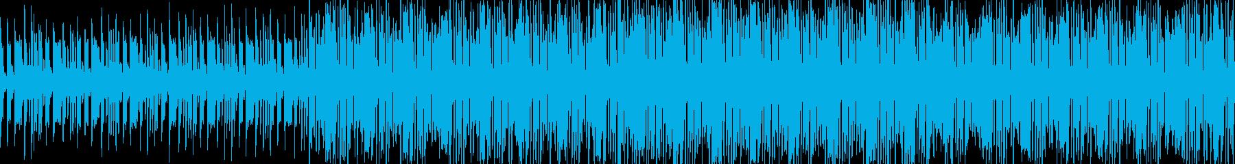 電子音をふんだんに使った曲。の再生済みの波形