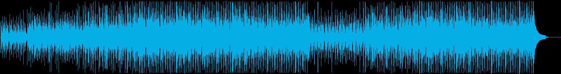 ピアノとウクレレがメインのハッピーな曲の再生済みの波形