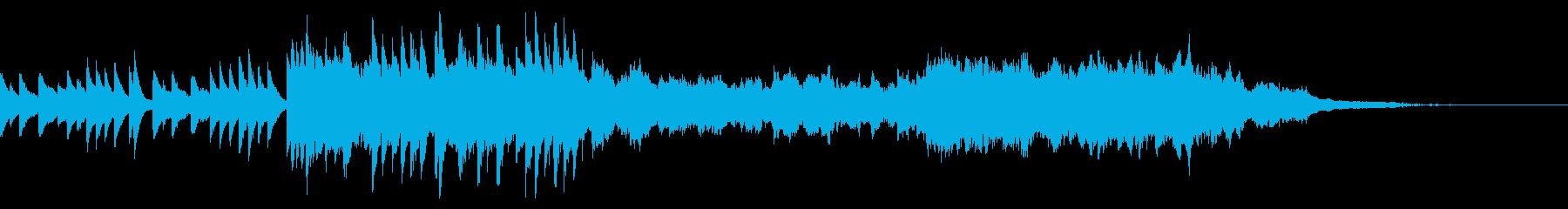 感動のお祝いシーンでかかる曲の再生済みの波形