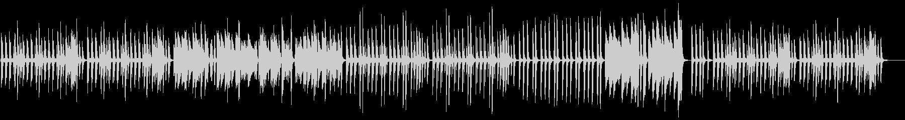 リズミカルでキラキラしたピアノの未再生の波形