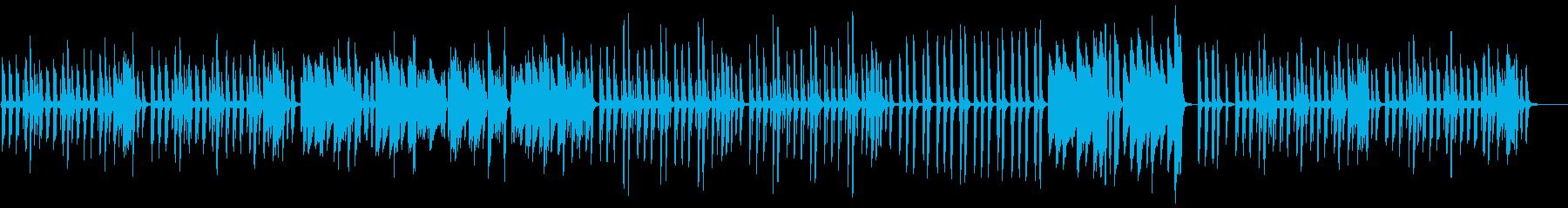 リズミカルでキラキラしたピアノの再生済みの波形