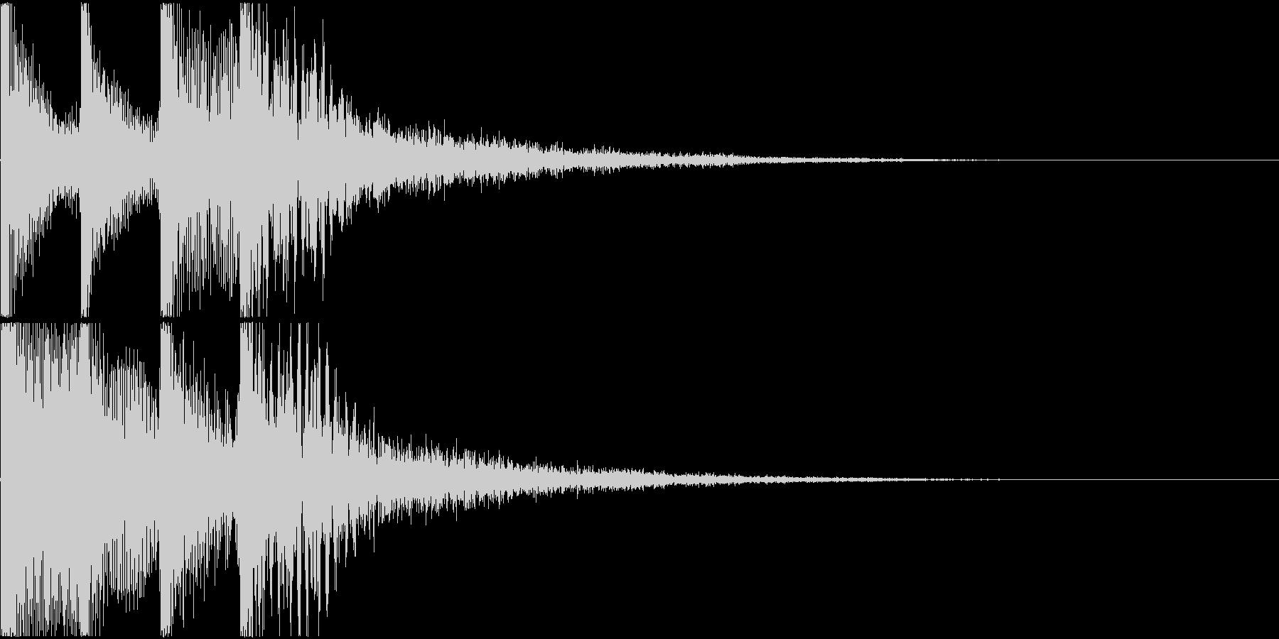目立つ決定音(システム音)の未再生の波形