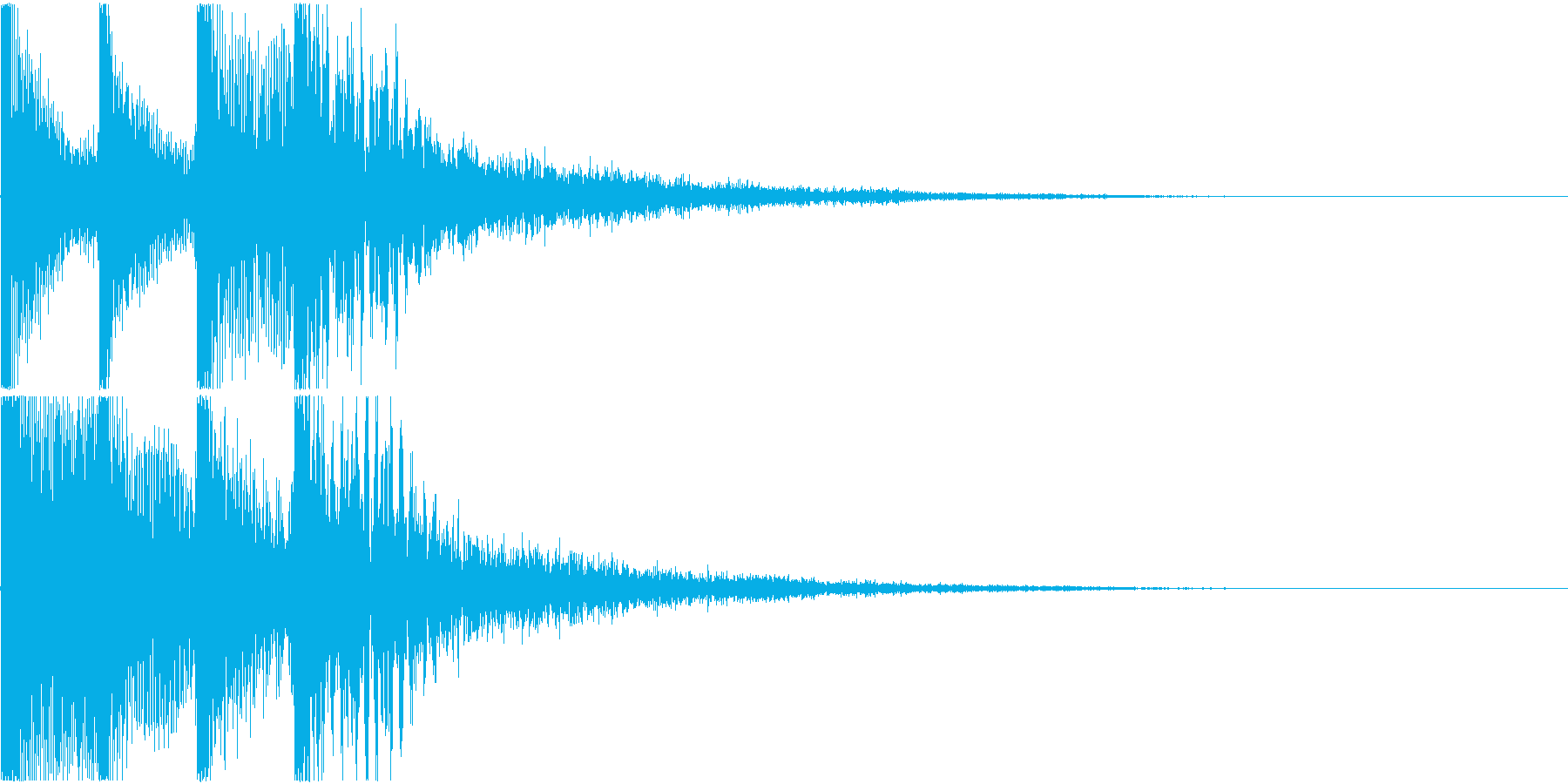 目立つ決定音(システム音)の再生済みの波形