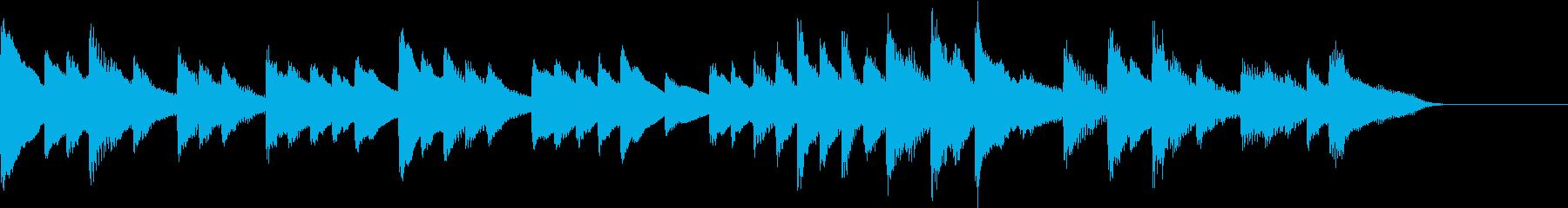 沖縄音階ののんびり穏やかなピアノジングルの再生済みの波形
