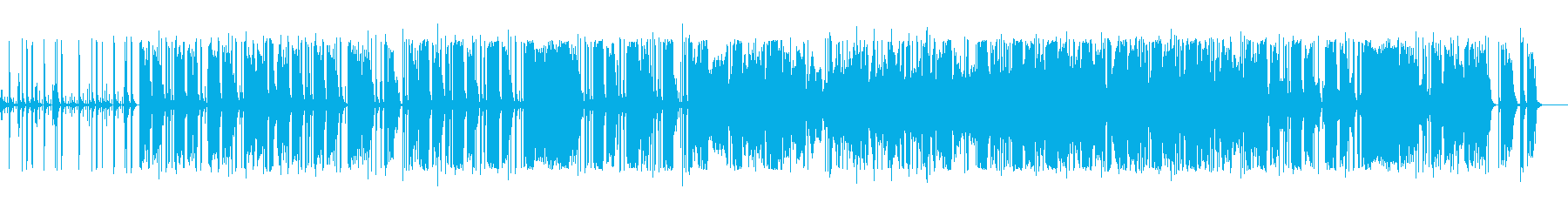 ミステリアスな雰囲気のエレクトロニカの再生済みの波形