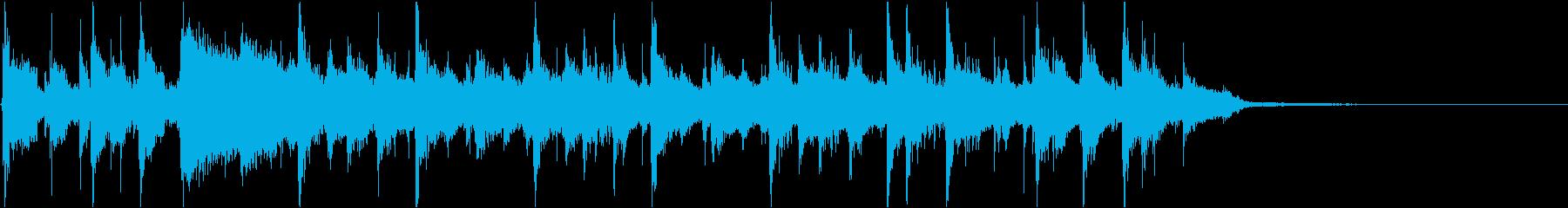 爽やかでリズミカルなキラキラ系インストの再生済みの波形
