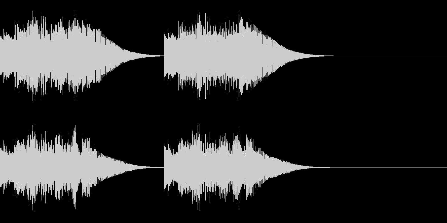 テロリロレララン×2 お知らせ 速報 の未再生の波形