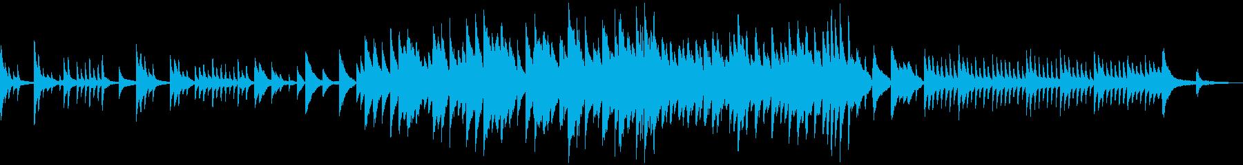 ゆったり時間が過ぎていく和風なBGMの再生済みの波形