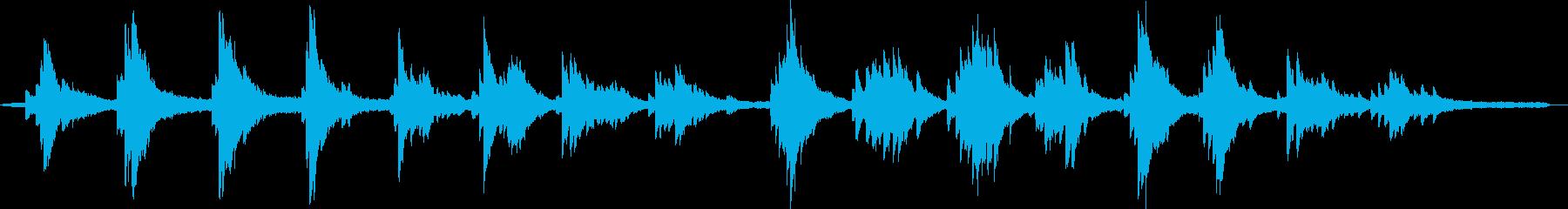 楽観的なピアノベースのキュー。劇的...の再生済みの波形