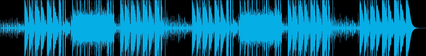 ロックフレーズのヒップホップビートの再生済みの波形