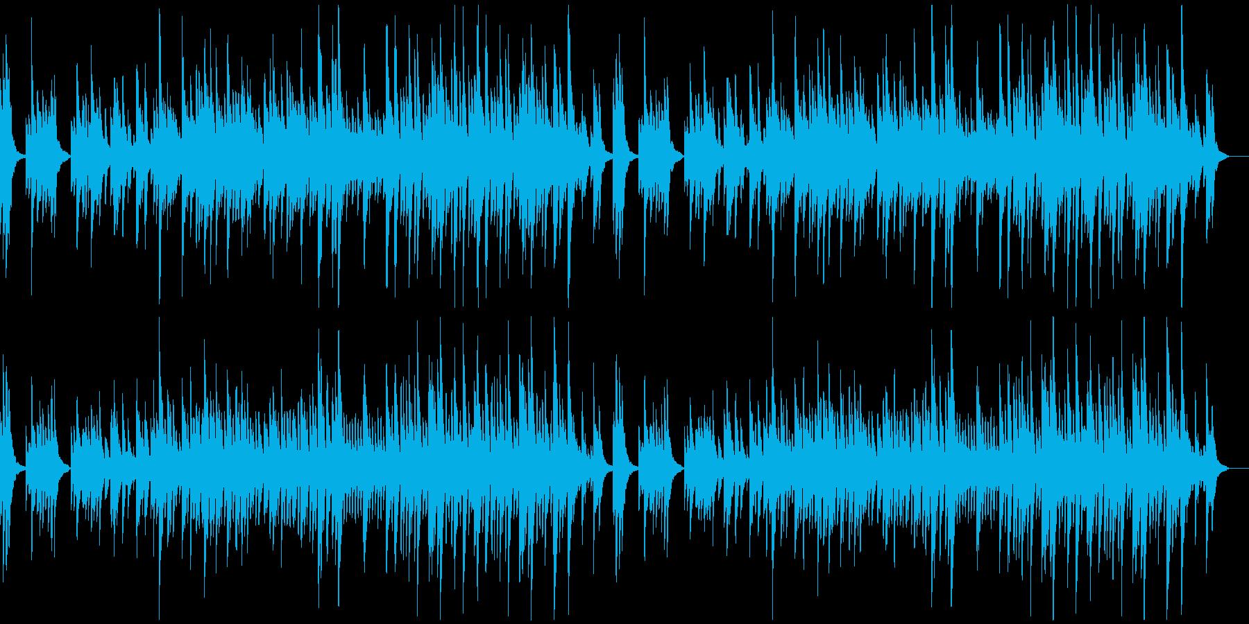 とてもゆっくりで静かなソロ・ピアノ曲の再生済みの波形