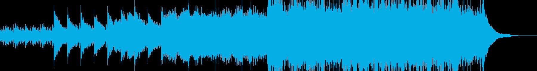 ピアノとオーケストラの感動的な曲の再生済みの波形
