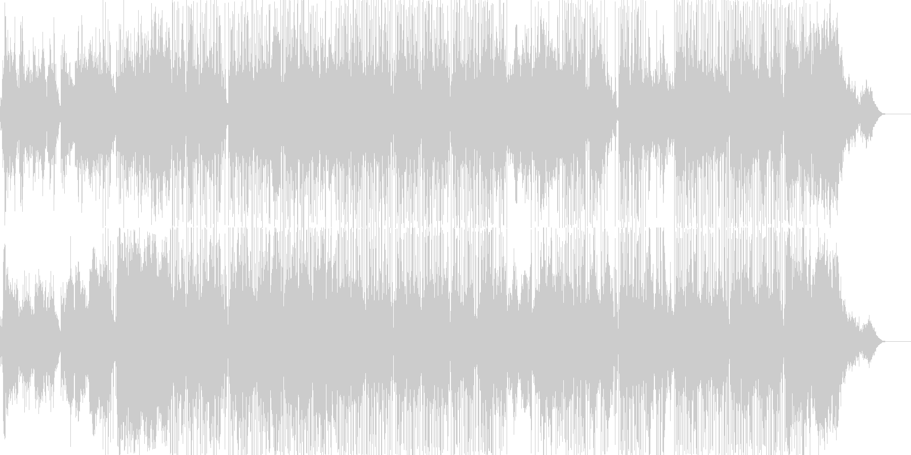 エレクトロニック 静か 楽しげ や...の未再生の波形