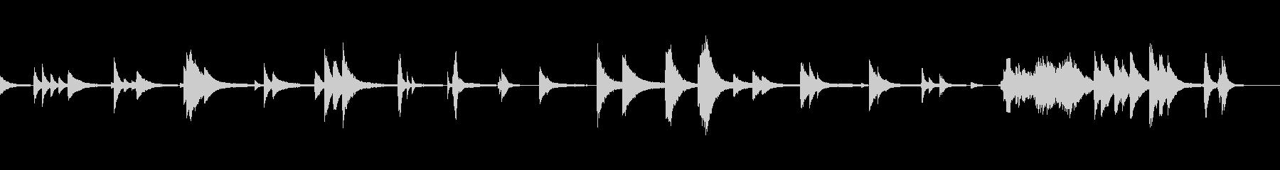 アンビエント風ピアノの未再生の波形