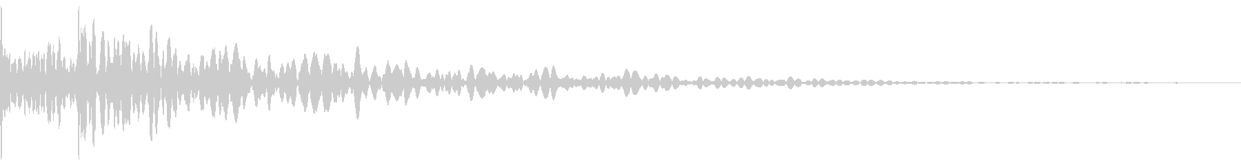 ドドン(和太鼓)の未再生の波形