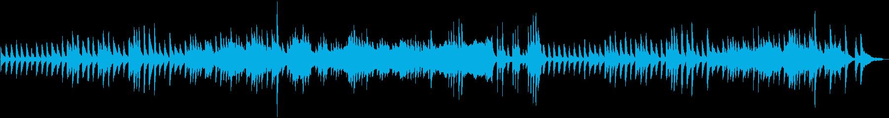 夢中になっている子供を遠くから眺める曲の再生済みの波形