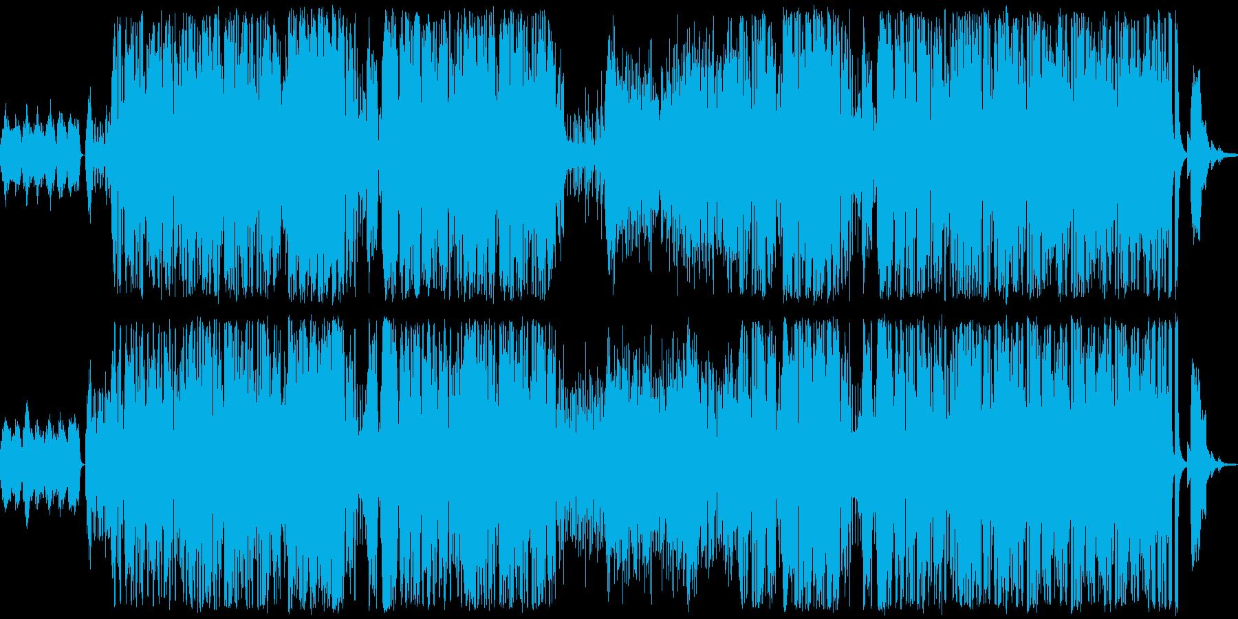 ジャズサンバ+ポップスの再生済みの波形