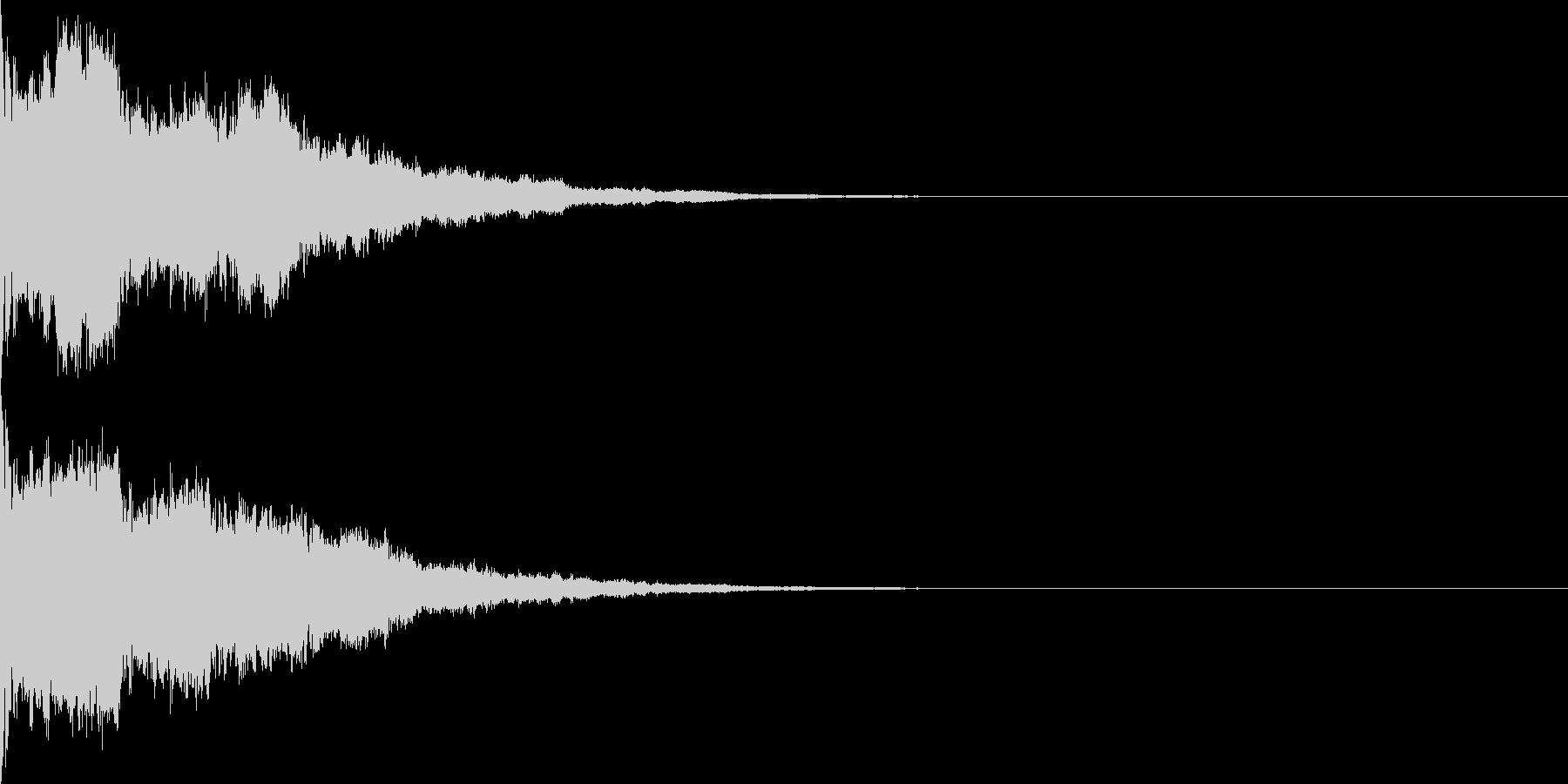 シンプルなサイレン、ブザー音の未再生の波形