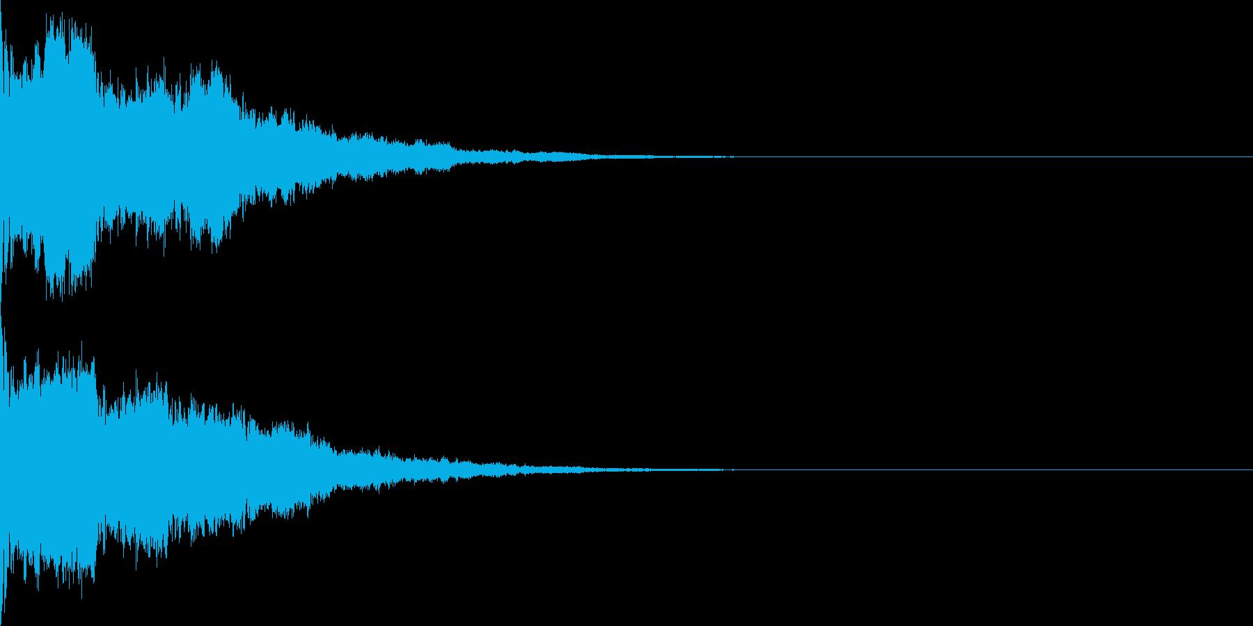 シンプルなサイレン、ブザー音の再生済みの波形