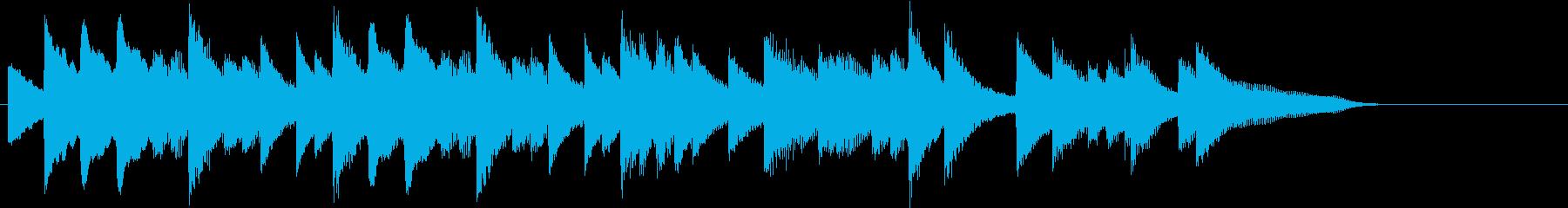 四季より「春」モチーフのピアノジングルAの再生済みの波形