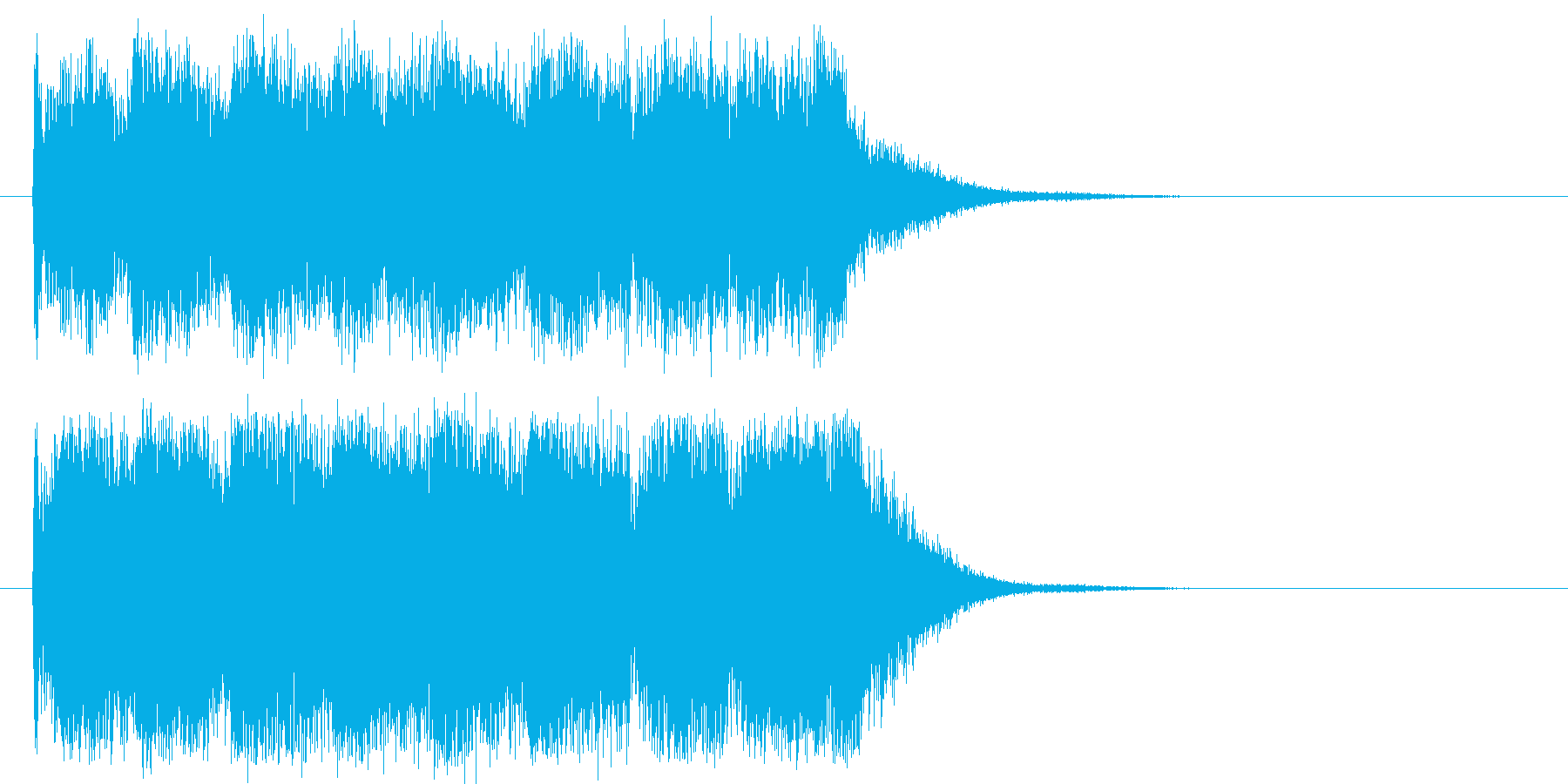 力強く迫力あるジングル曲の再生済みの波形