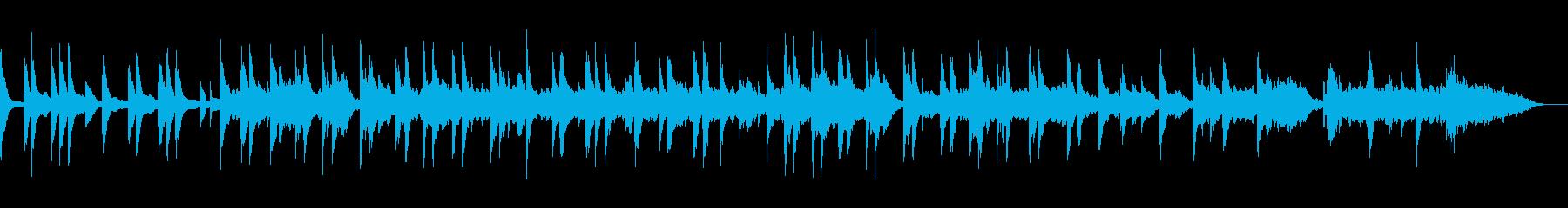 映像・ナレーション用ピアノ演奏(瞑想)の再生済みの波形