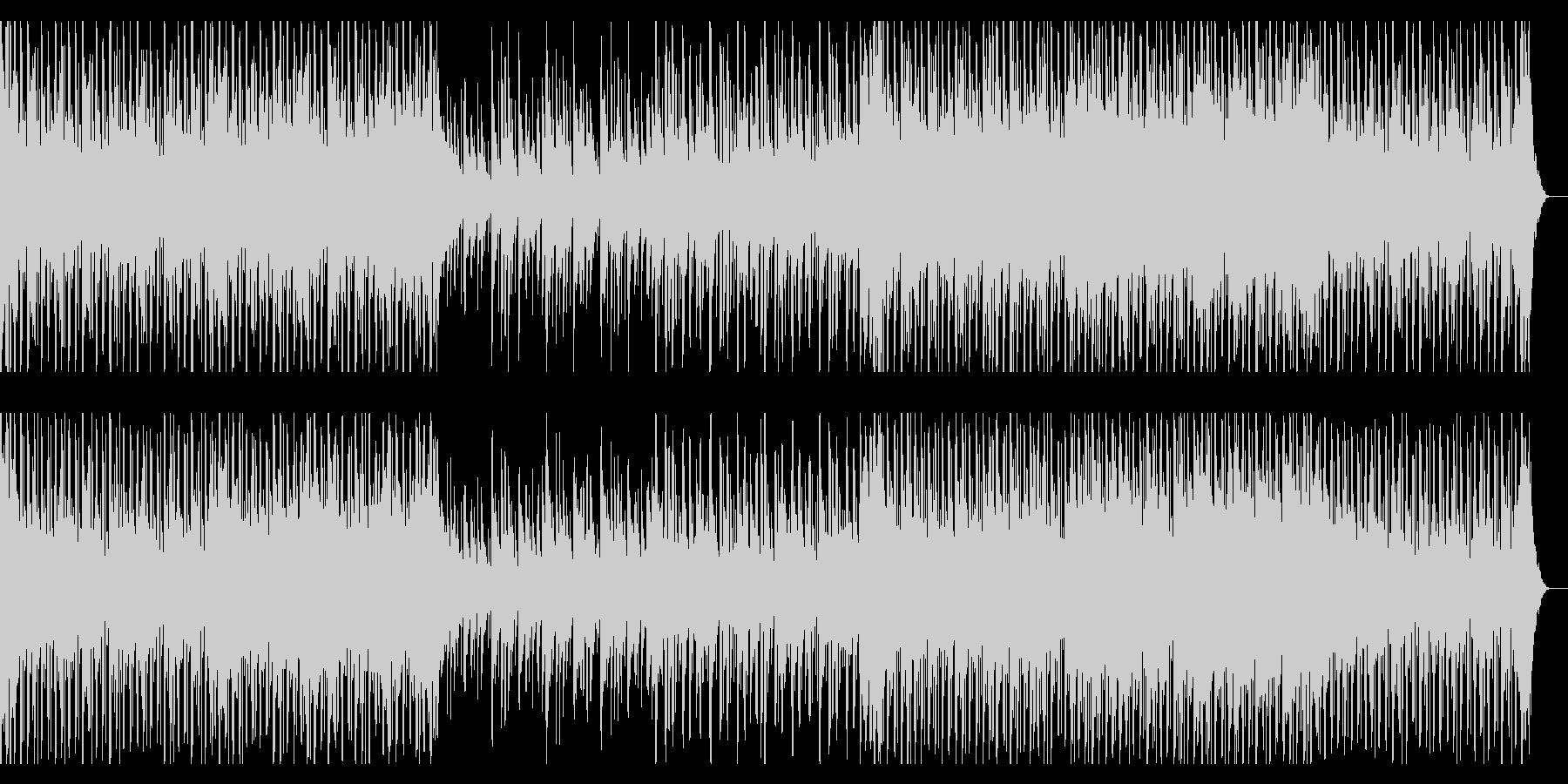 和太鼓や琴を擁した和風エレクトロ・テクノの未再生の波形