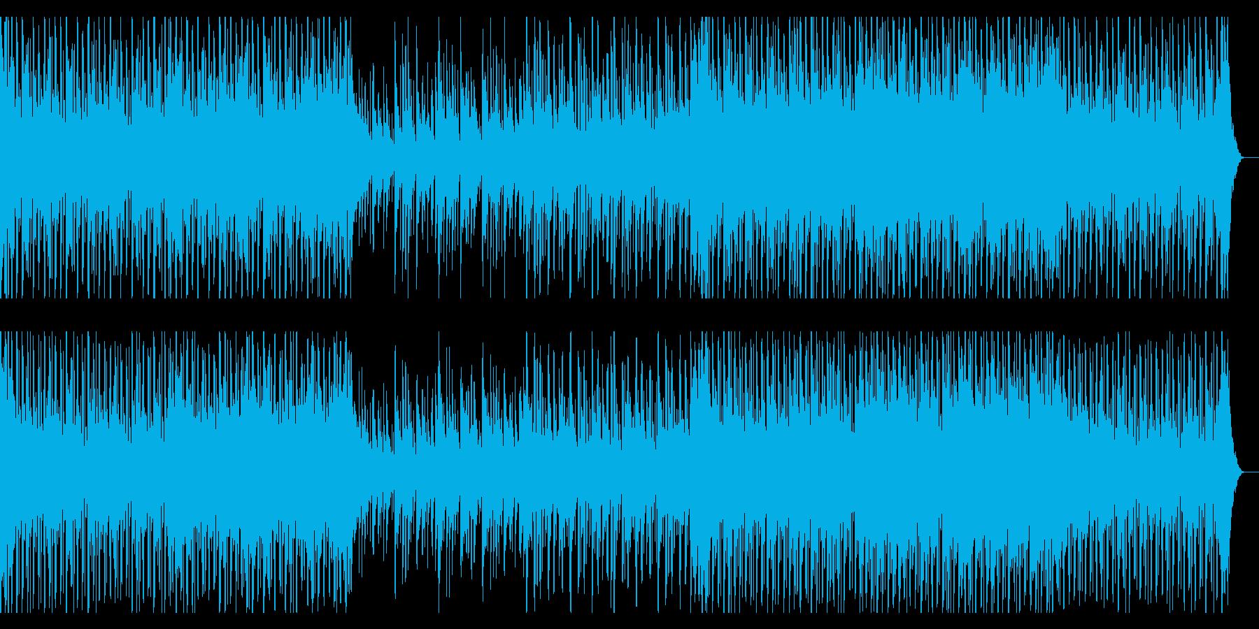 和太鼓や琴を擁した和風エレクトロ・テクノの再生済みの波形