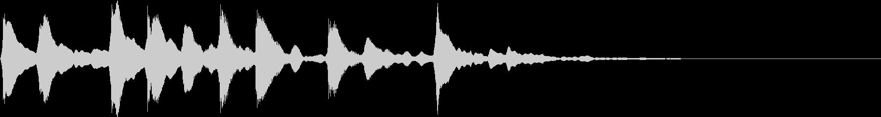 ほのぼのサウンド1の未再生の波形