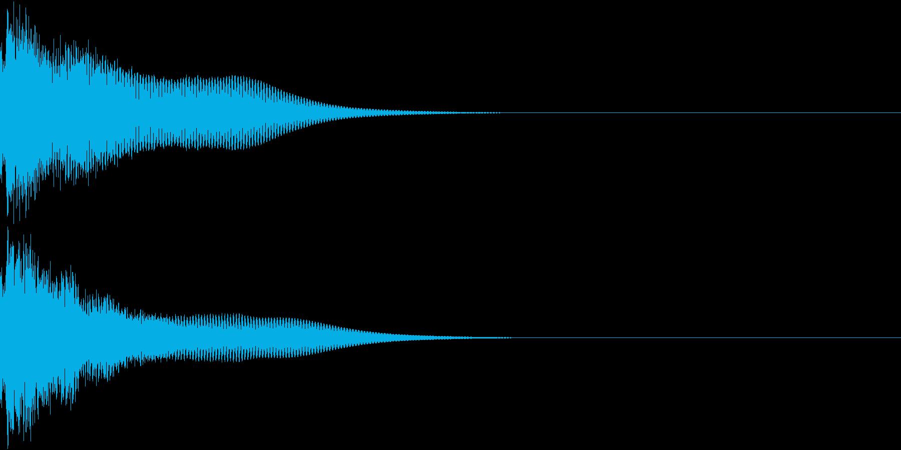 光る  輝く  キュピーン  キラーンEの再生済みの波形