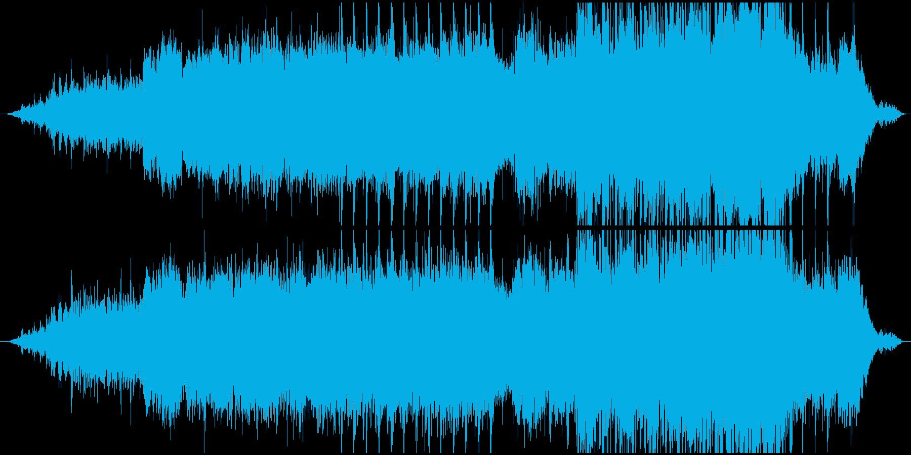 「家族」をテーマにしたニューエイジ風楽曲の再生済みの波形