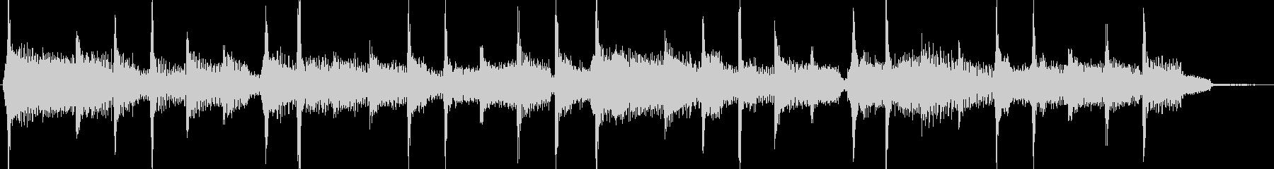 ボサノバ風エレピのジングルの未再生の波形
